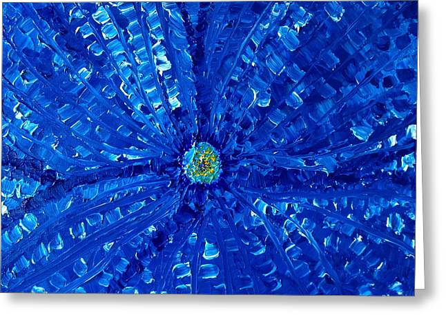 Blue Orchid   Greeting Card by Pretchill Smith