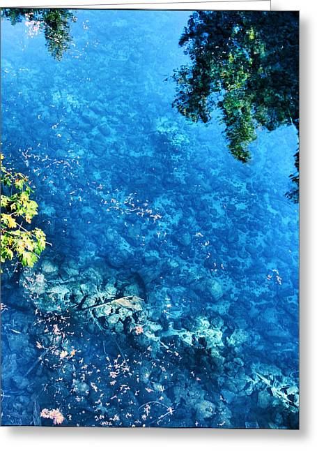Blue Pool I Mckenzie River Oregon Greeting Card