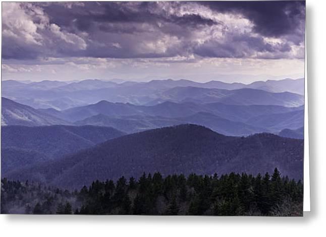 Blue Ridge Mountain Vista Greeting Card
