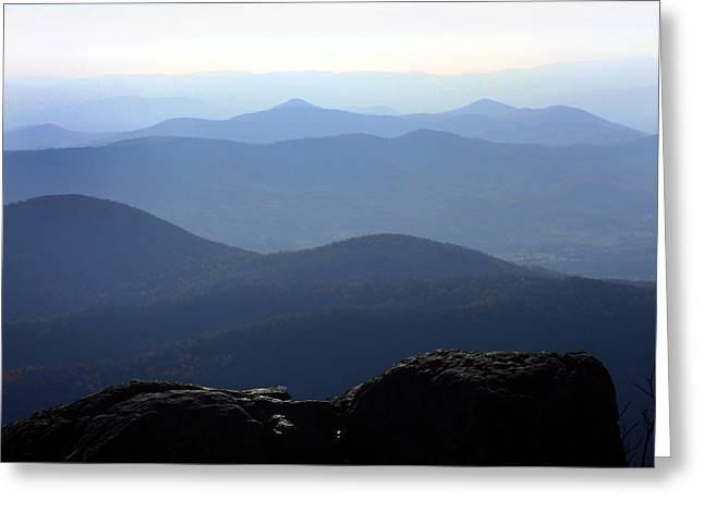 Blue Ridge Mountains Greeting Card by Emanuel Tanjala