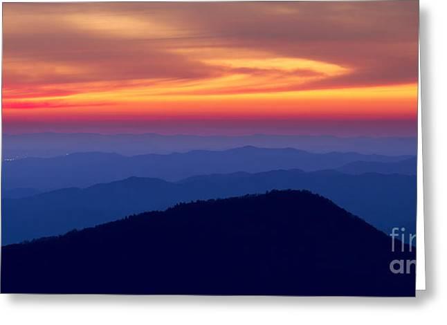 Blue Ridge Mountains North Carolina Greeting Card