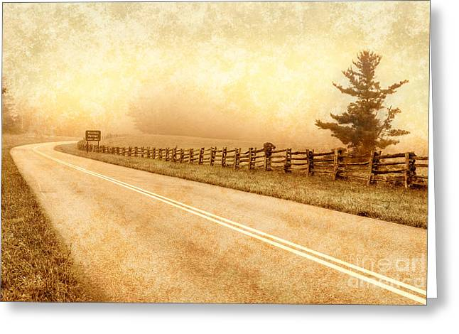 Blue Ridge Parkway At Northwest Trading Post II Greeting Card by Dan Carmichael