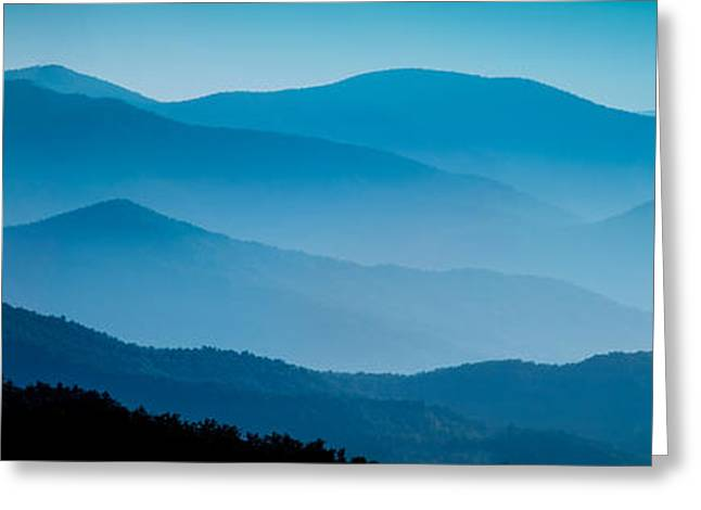 Blue Ridges Panoramic Greeting Card