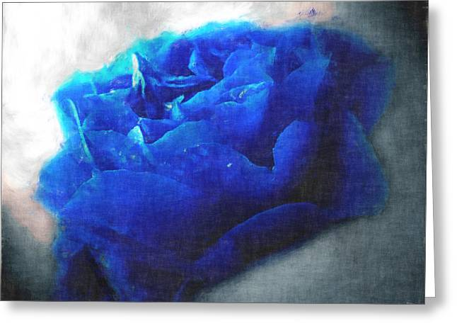 Greeting Card featuring the digital art Blue Rose by Debbie Portwood