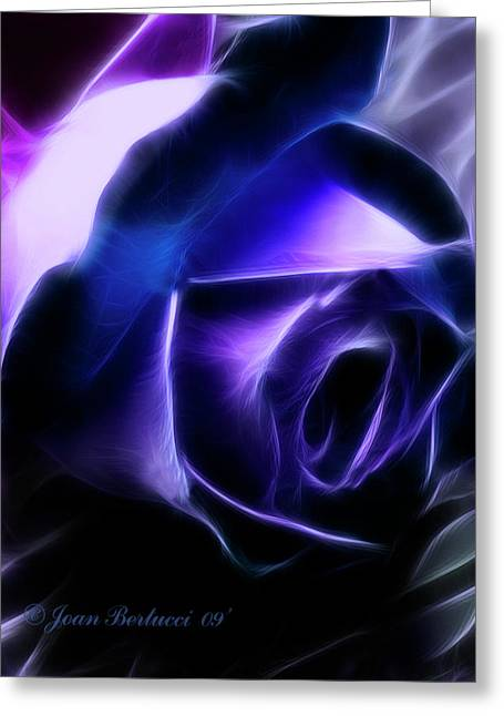 Greeting Card featuring the photograph Blue Rose by Joan Bertucci