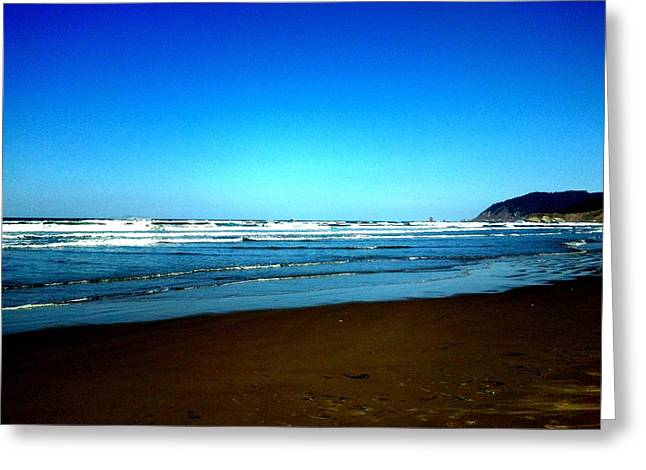 Blue Sky Beach Greeting Card by J Von Ryan