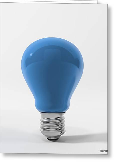 Blue Sky Lamp Greeting Card by BaloOm Studios