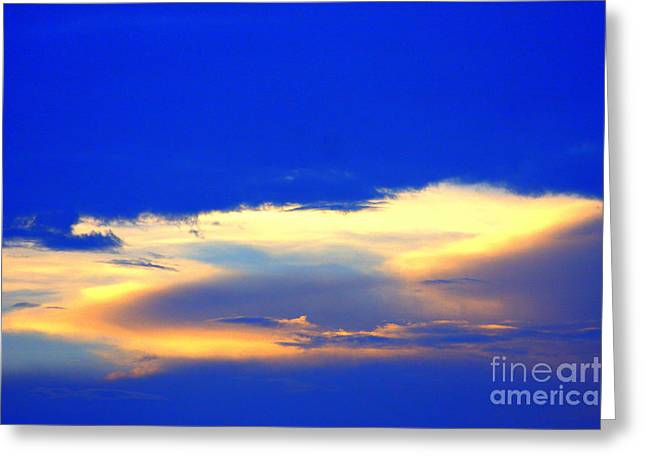 Blue Skys Greeting Card by Bret Worrell
