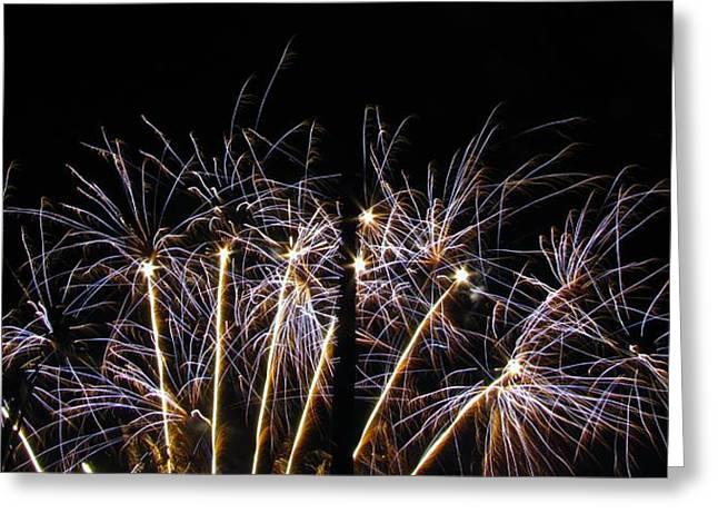 Blue Star Fireworks Greeting Card