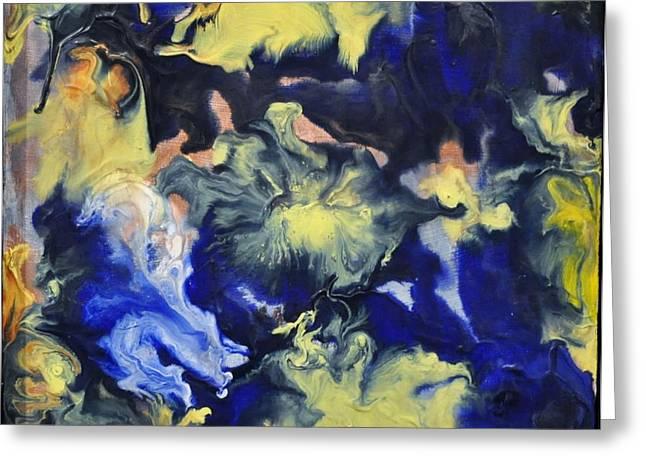 Blue Storm Greeting Card by Brenda Chapman