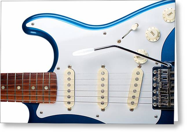 Blue Strat Greeting Card