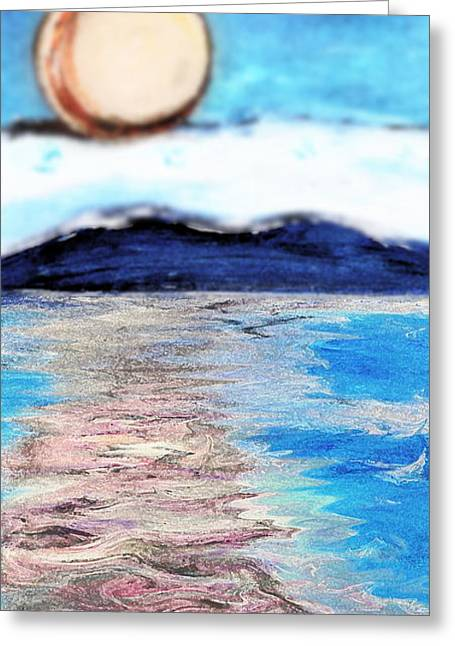 Blue Sunrise Rendered Greeting Card