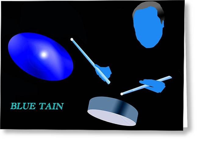 Blue Tain Greeting Card by Victor Bailey