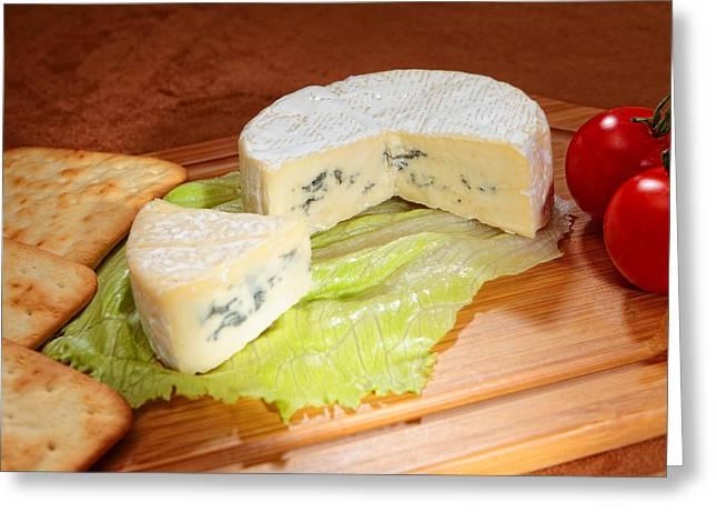 Blue-veined Camembert Greeting Card by Paul Cowan