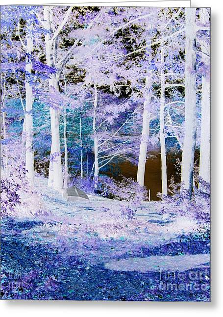 Blue Way Greeting Card