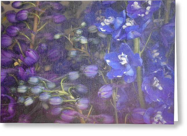 Blue Whirligig Greeting Card by Lynn Wohlers