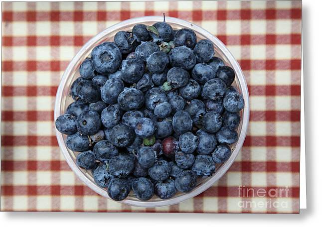 Blueberries - 5d17825 Greeting Card by Wingsdomain Art and Photography
