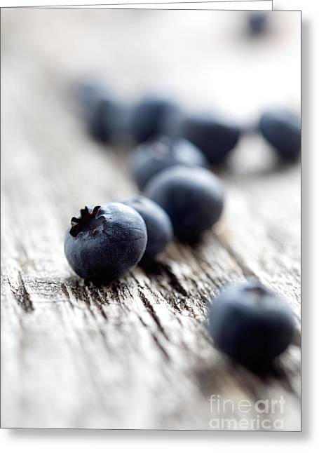 Blueberries Greeting Card by Kati Molin
