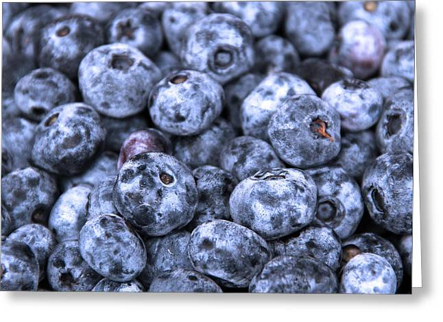 Blueberries  Greeting Card by Kim French