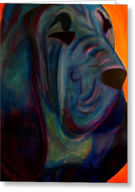 Blueblood I Greeting Card by Laura  Grisham