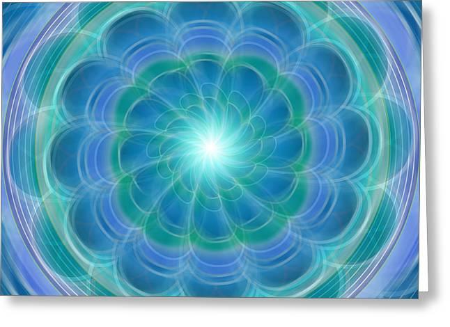 Bluefloraspin Greeting Card
