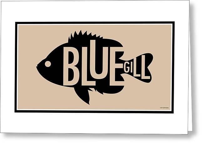Bluegill Greeting Card by Geoff Strehlow