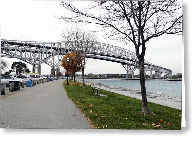 Bluewater Bridges Sarnia Port Huron Greeting Card