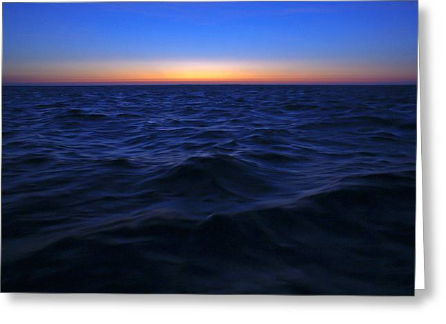 Bluewater Sunset Greeting Card by Gary Eason