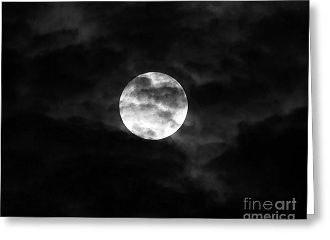 Blustery Blue Moon Greeting Card