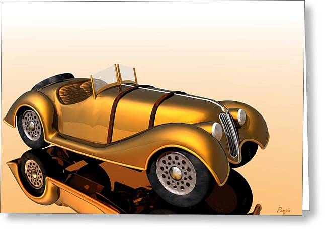 Greeting Card featuring the digital art Bmw Roadster by John Pangia