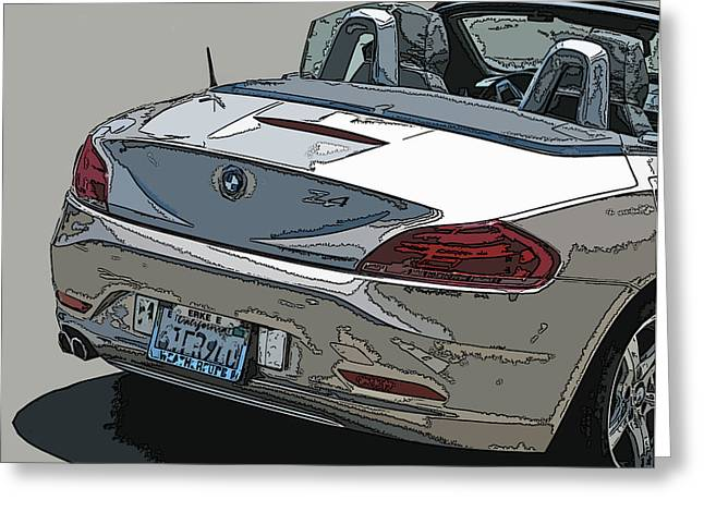 Bmw Z4 Rear Study Greeting Card by Samuel Sheats