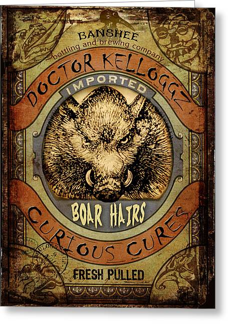 Boar Hairs  Greeting Card