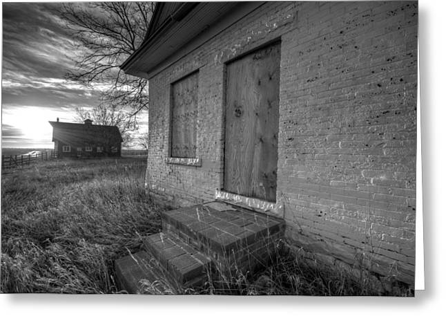 Old Barns Greeting Cards - Boarded Up Greeting Card by Shane Linke
