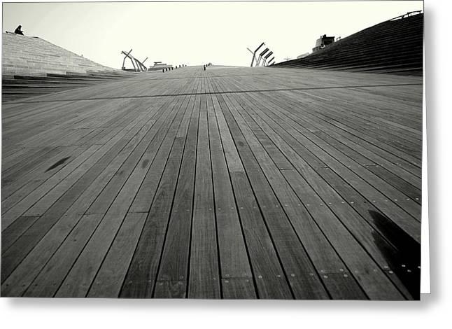 Boardwalk Dreams Greeting Card by Dean Harte