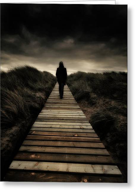 Boardwalk Of Doom Greeting Card by Meirion Matthias