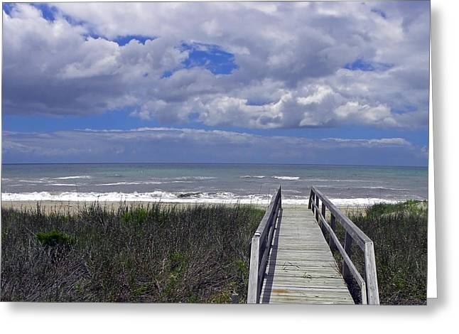 Boardwalk To The Beach Greeting Card by Sandi OReilly