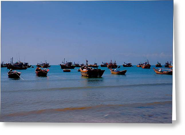 Greeting Card featuring the photograph Boat by Arik S Mintorogo