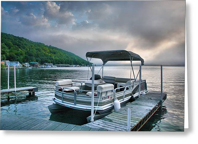 Boat At Rest Greeting Card by Steven Ainsworth
