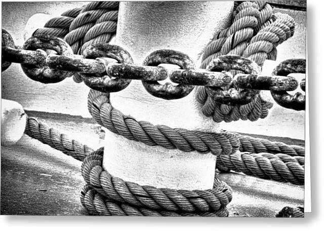 Greeting Card featuring the photograph Boat Chain by Kelly Reber