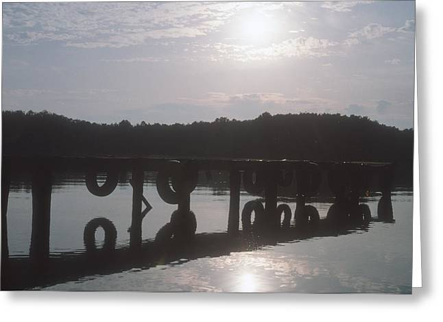 Greeting Card featuring the photograph Boat Dock by Wanda Brandon