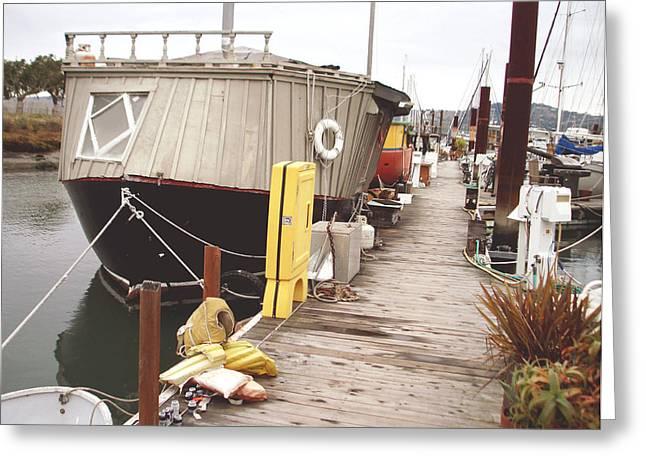 Boat House Greeting Card by Hiroko Sakai