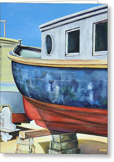 Boat Hull Greeting Card by Robert Henne