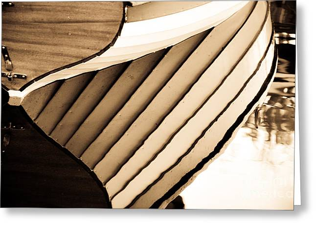 Boat Reflection Greeting Card by Camille Lyver