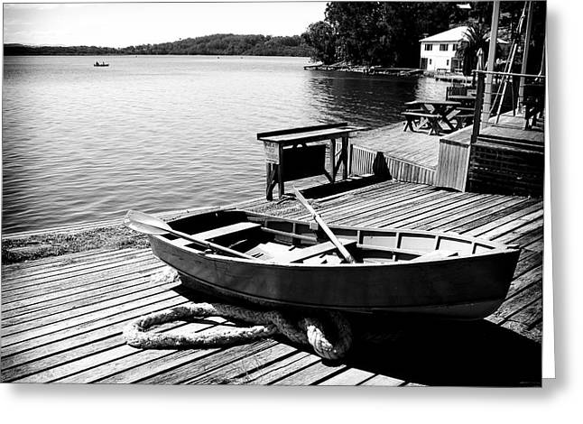 Greeting Card featuring the photograph Boat Shed by Carole Hinding