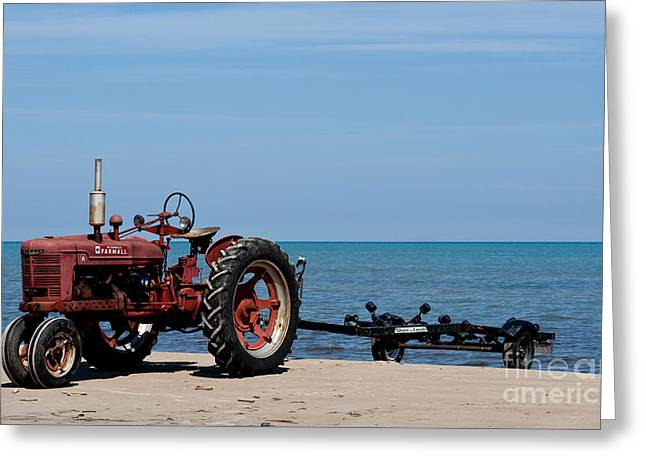 Greeting Card featuring the photograph Boat Trailer by Barbara McMahon