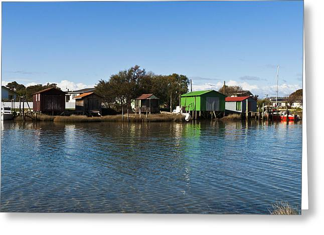 Boathouses Greeting Card by Graeme Knox