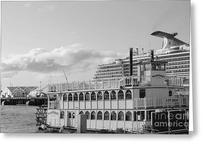 Greeting Card featuring the photograph Boats - The Past And Now by Jasna Gopic