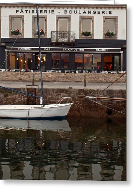 Boats And Boulangerie Greeting Card by Gary Eason