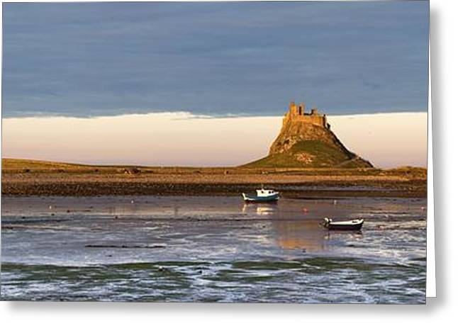 Boats In The Water And A Castle On The Greeting Card