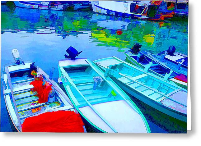 Boats Greeting Card by Mauro Celotti